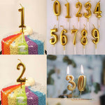 Gold Candle Cake Top  Number