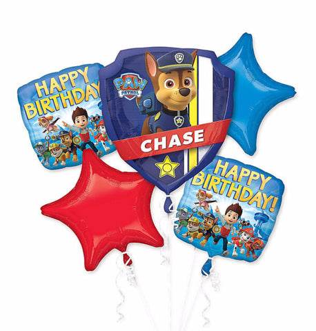 Paw Patrol (5pc) Foil Balloons Bouquet Boys Birthday Party Supplies