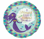 MERMAID  KISSES  STARFISH WISHES BALLOON BY ANAGRAM HOLOGRAPHIC