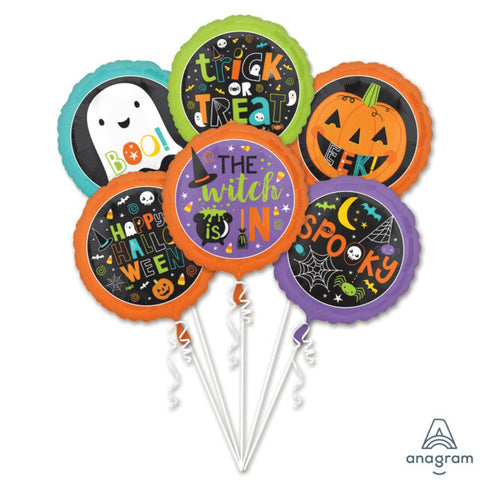 Halloween Mix Mylar Bouquet Set 6pc.