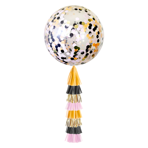 Giant Balloon with Tassels-Halloween Confetti