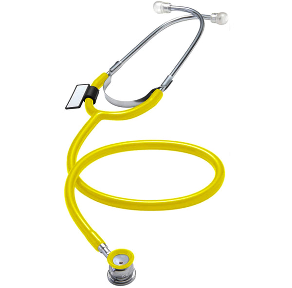 MDF Singularis™ VIVO™ Infant & Neonatal Aluminum Stethoscope - Silver - Yellow