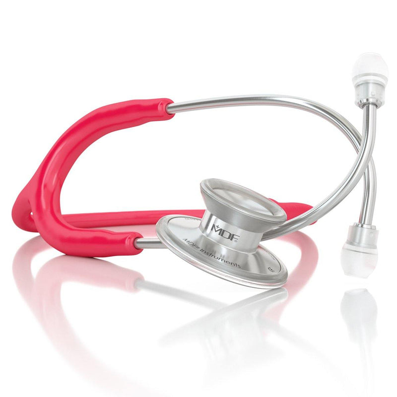 Acoustica® Adult Aluminum Silver Raspberry Stethoscope - MDF747XP23