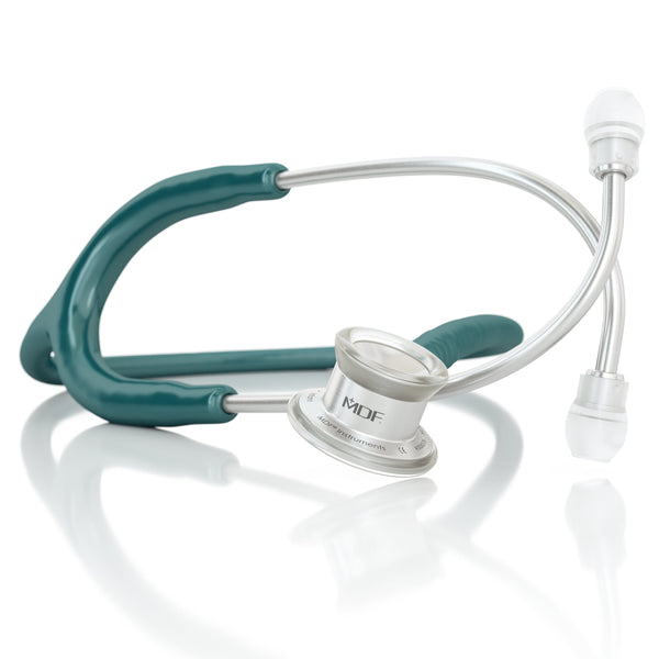 MDF® MD One® Infant Stainless Steel Stethoscope - Silver - Green