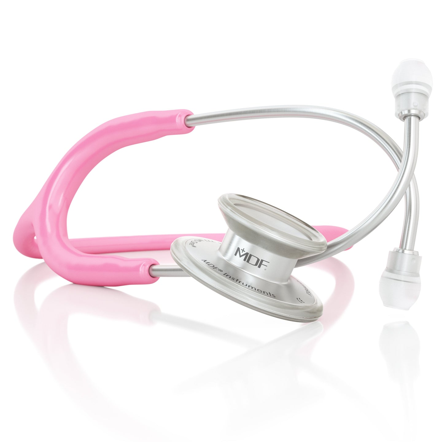 MDF® MD One® Adult Stainless Steel Stethoscope - Silver - Pink