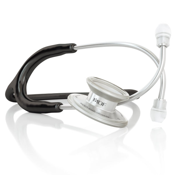 MDF® MD One® Adult Stainless Steel Stethoscope - Silver - Black