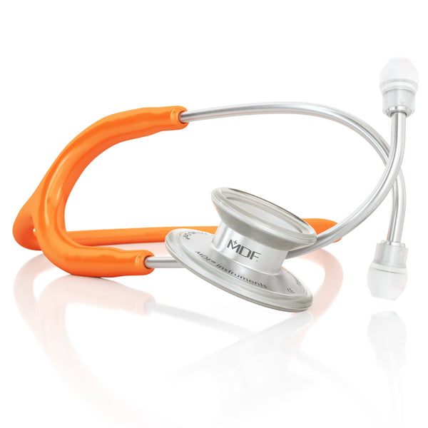 MDF® MD One® Adult Stainless Steel Stethoscope - Silver - Orange