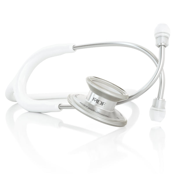 MDF® MD One® Adult Stainless Steel Stethoscope - Silver - White