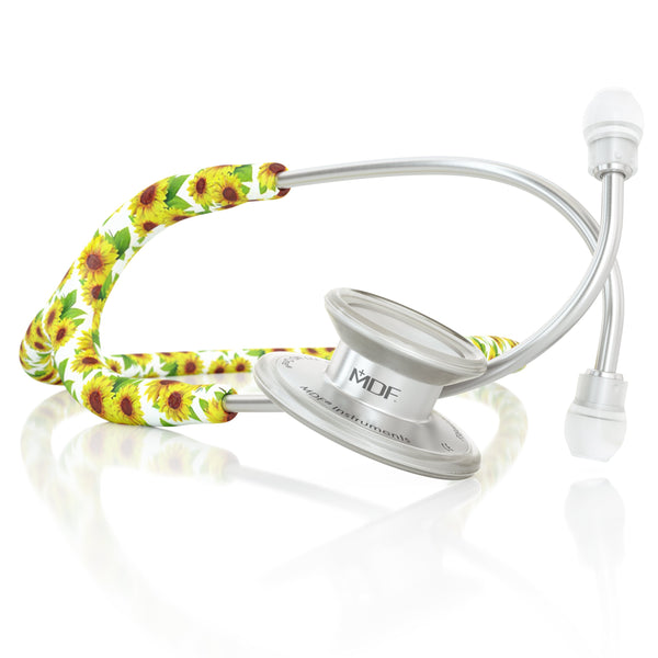 MDF® MD One® Adult Stainless Steel Stethoscope - Silver - Sunflower