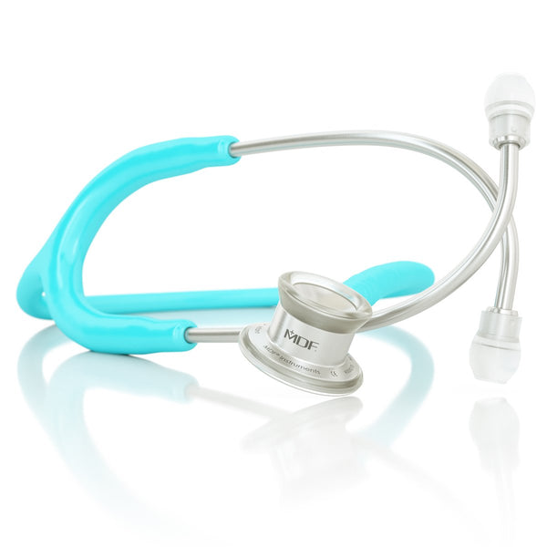 MDF® MD One® Infant Stainless Steel Stethoscope - Silver - Pastel Blue