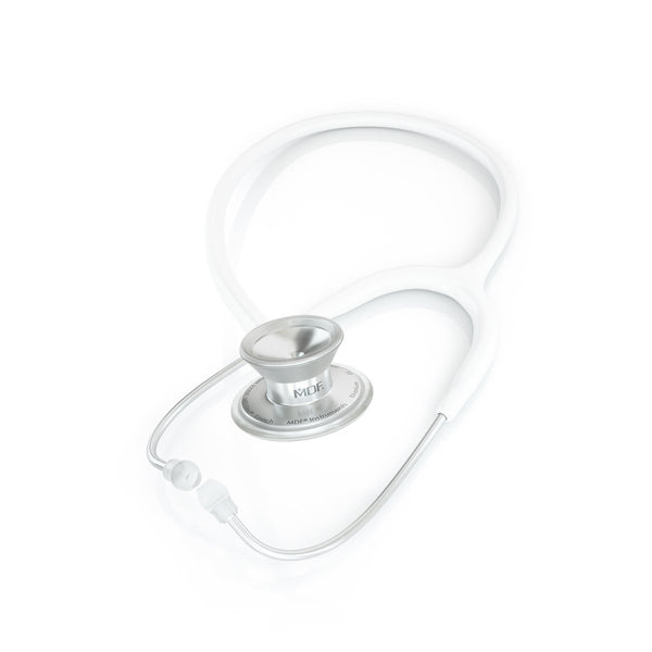 MDF® MD One® Epoch Titanium Stethoscope - Silver - White