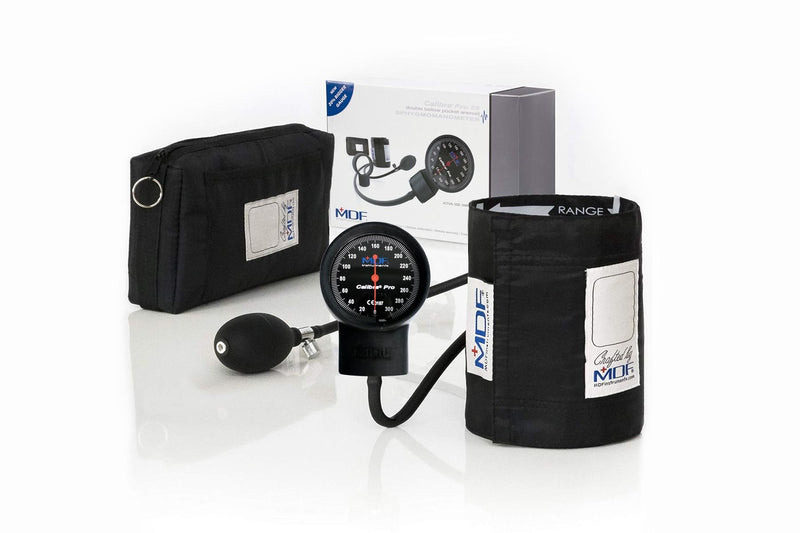 MDF® Calibra® Pro Sphygmomanometer Double Bellow - BlackOut