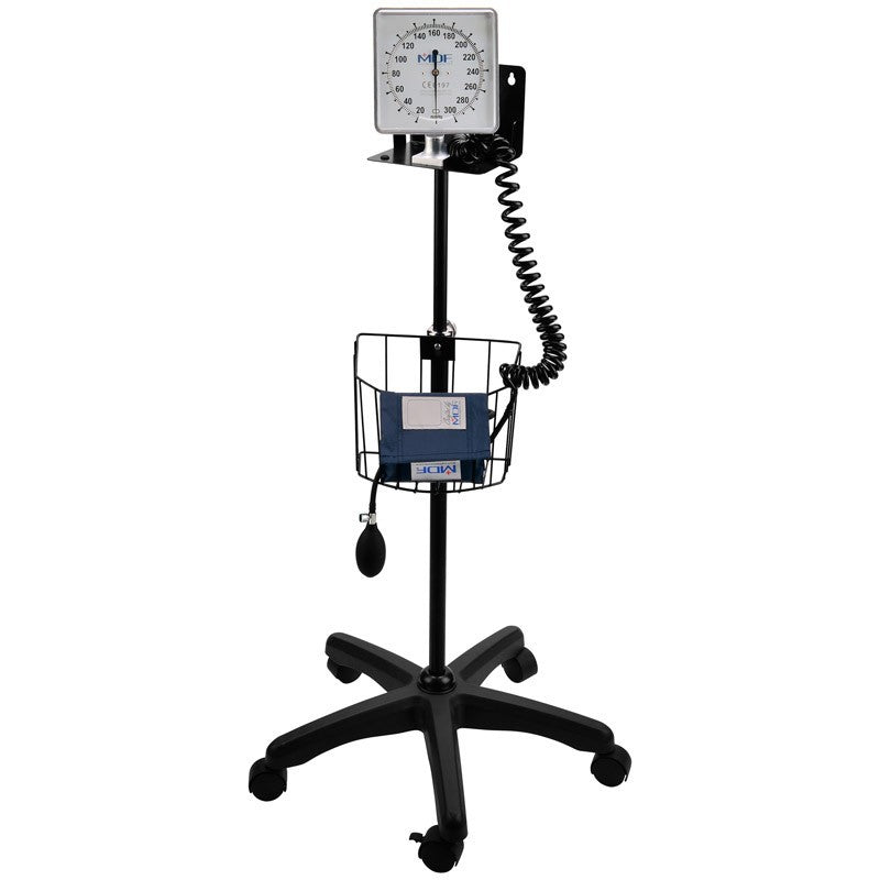 MDF® Mobile Aneroid Sphygmomanometer - Professional Blood Pressure Monitor - Large Adult, Adult & Pediatric Sized Cuff Included (MDF830)