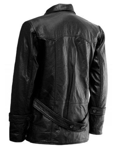 Christopher Eccleston DR Who Black Leather Jacket