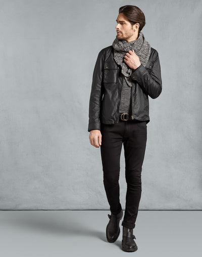 Dunstall Cooper and Black Leather Jacket