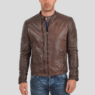 Albie Brown Motorcycle Leather Jacket