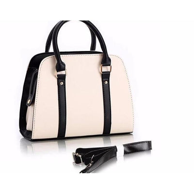 Women Tote Faux-Leather Handbag with Attractive Designer Bow