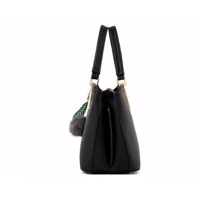 Women High Quality Faux-Leather Tote Cross-Body Handbag with Eye-Pleasing Tassels