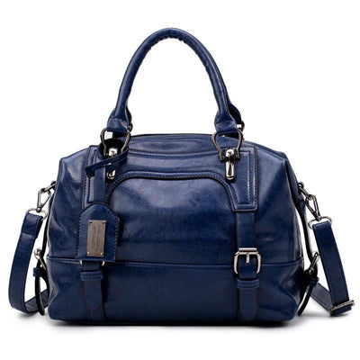Women Tote Messenger Boston Style Hand & Shoulder Faux-Leather Bag