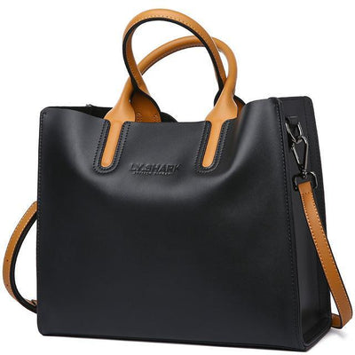 Women Tote Crossbody Messenger Faux-Leather Bag