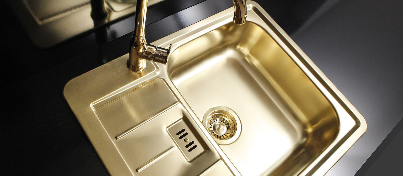 Kitchen sinks and taps, exclusive design, for sale in the UK | Olif