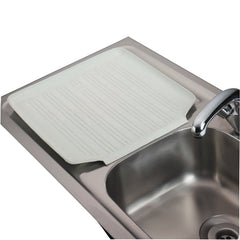 How to drain (and dry) dishes on a flat surface kitchen worktop