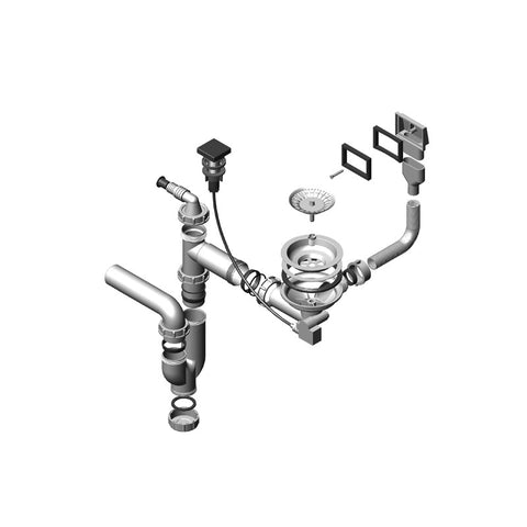 Pop-up plumbing kit, single 1074347