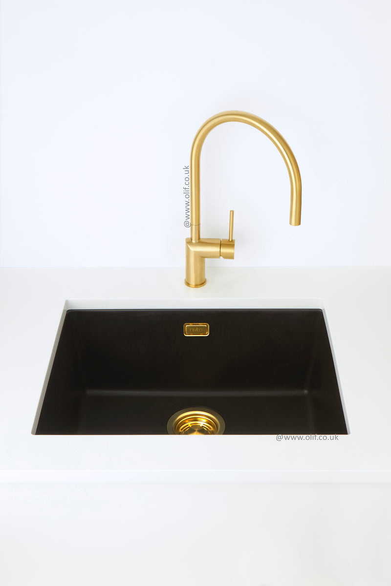 Nivito Cubegranit 500 Black MIX & MATCH, topmount or undermount sink