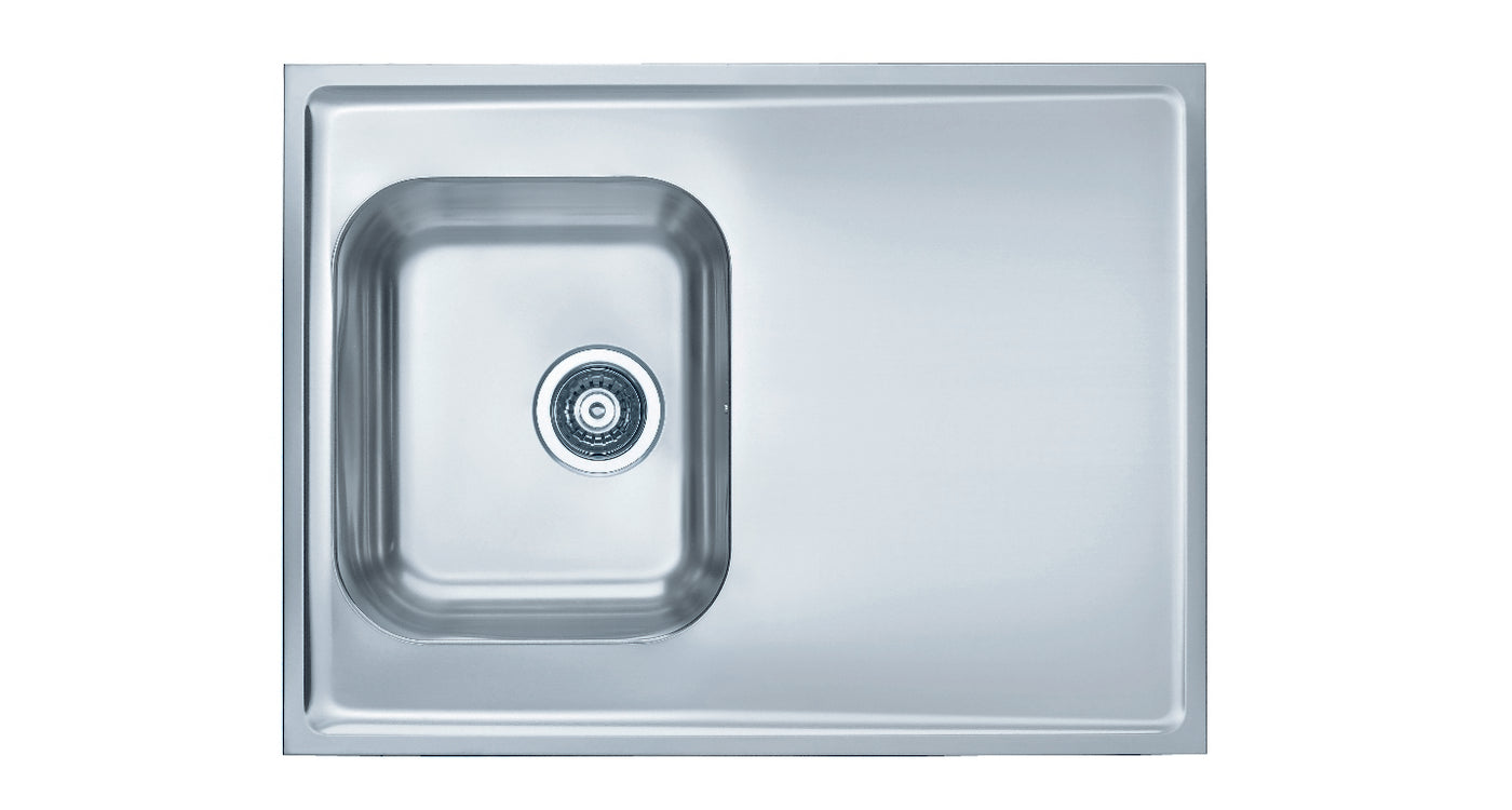 800mm Sit-on Kitchen Sink, deep single bowl - Alveus Classic PREMIUM ...