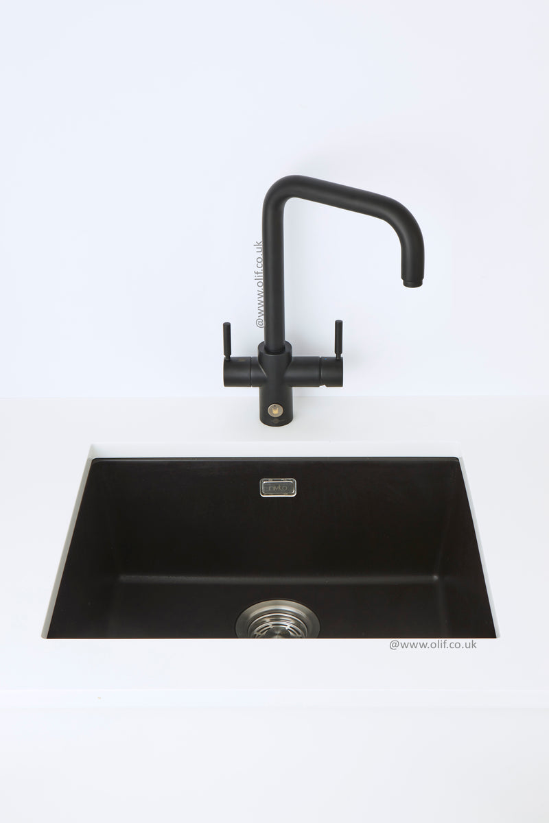 Pack of InSinkErator 4n1 Touch U tap & Nivito sink, Black Velvet finish