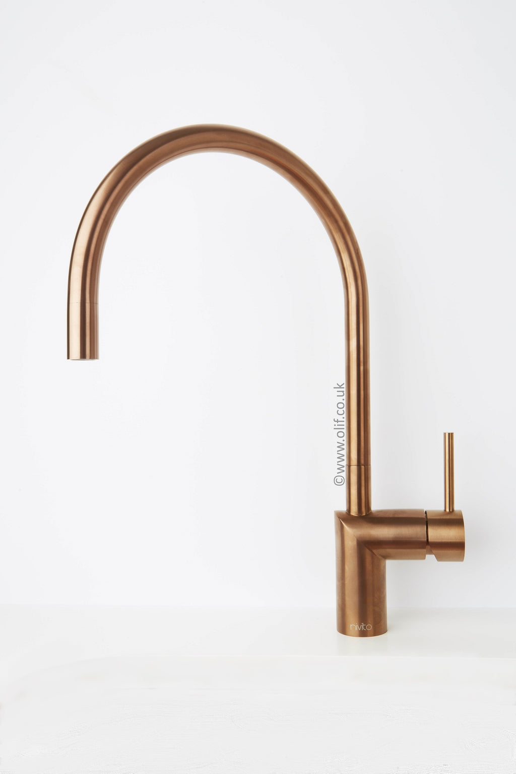 Nivito RH 150 Brushed Copper, kitchen mixer tap