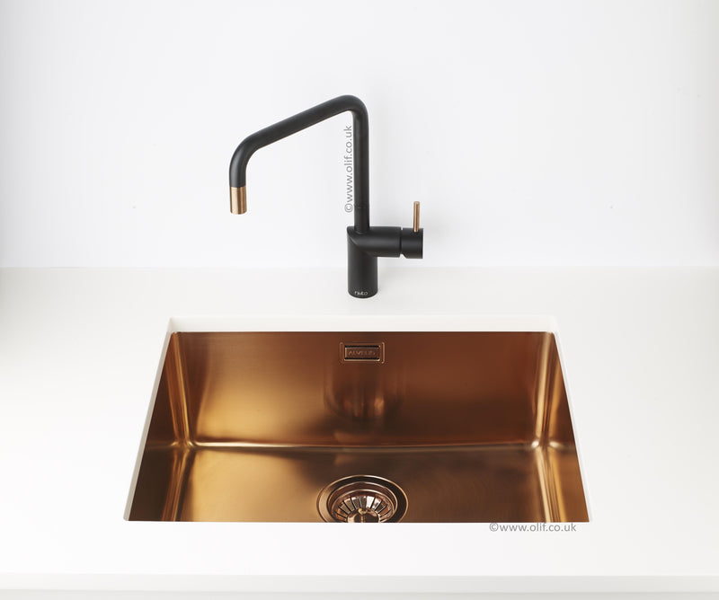 Pack of Alveus Monarch Kombino 50 Copper sink and matching Copper tap