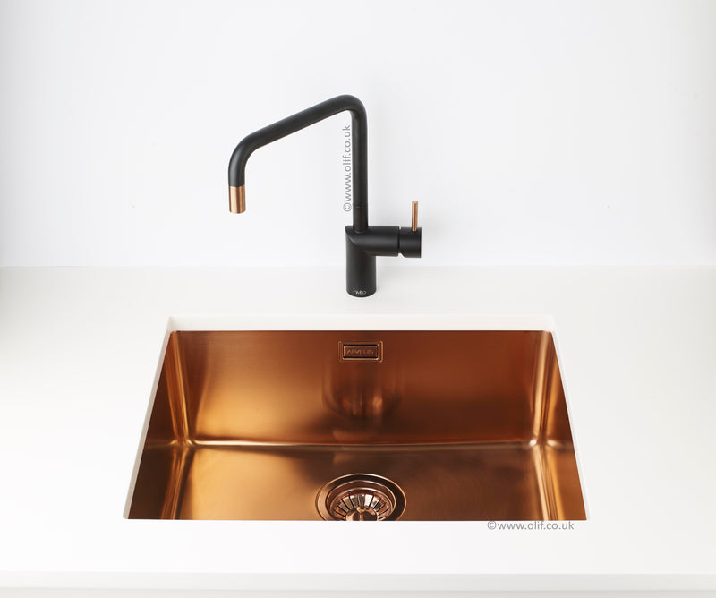 Alveus Monarch Kombino 50 Copper, topmount/ undermount sink
