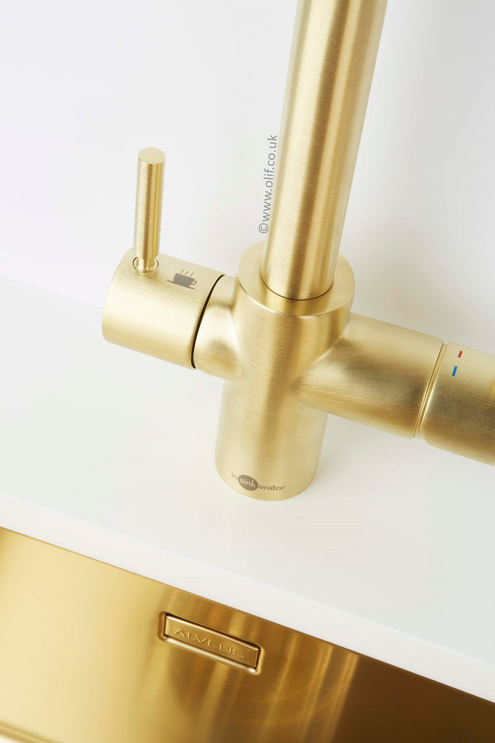 Instant Hot Boiling Water tap, Brass/Gold finish