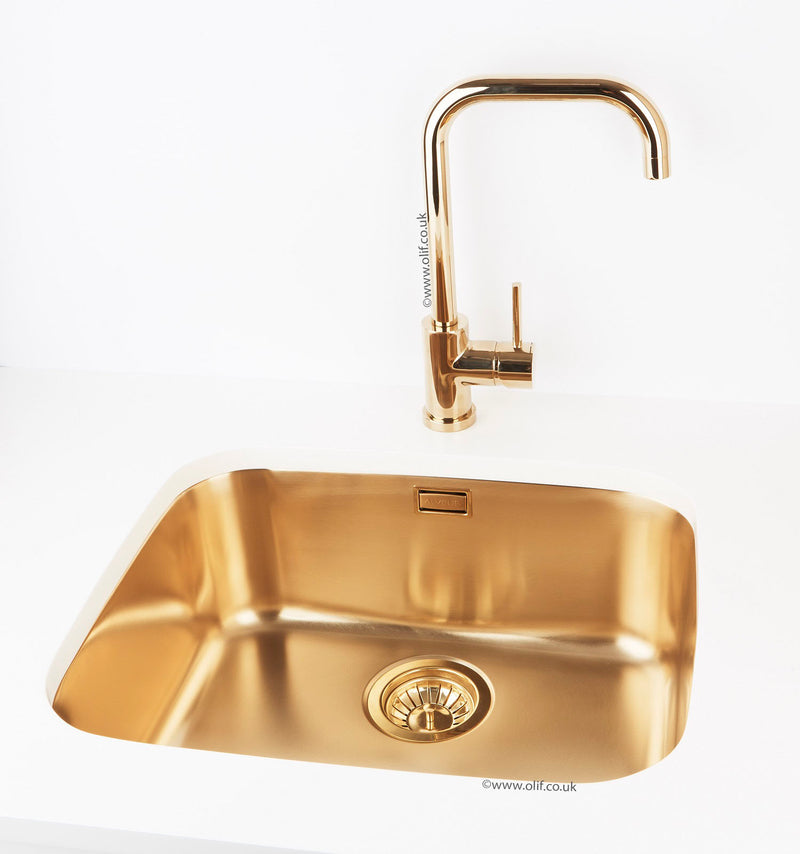 Brass Kitchen Sink Undermount Large Bowl Alveus