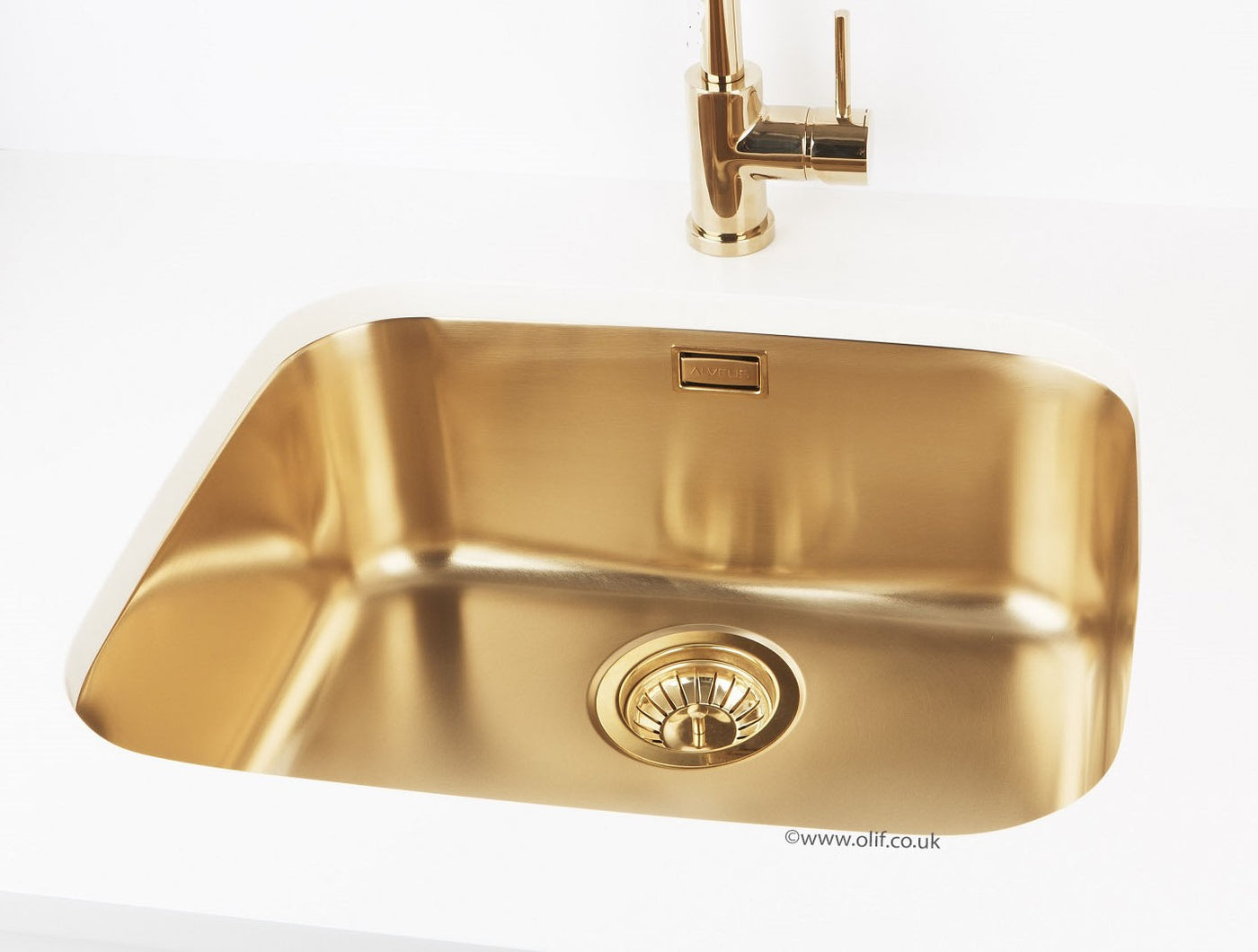 Brass Sink Matching With Quooker Gold Alveus Monarch Variant 10 Gold Olif