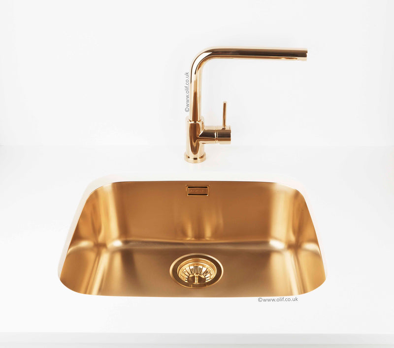 Pack of Alveus Monarch Variant 40 Gold sink and matching Gold tap