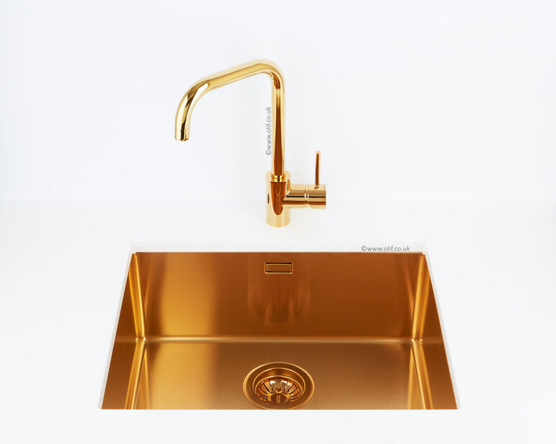 Alveus Delfino Bronze, kitchen mixer tap, Monarch collection