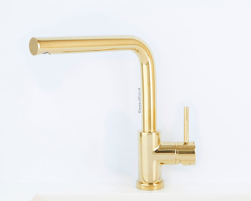 Alveus Toro Gold, kitchen mixer tap, Monarch collection