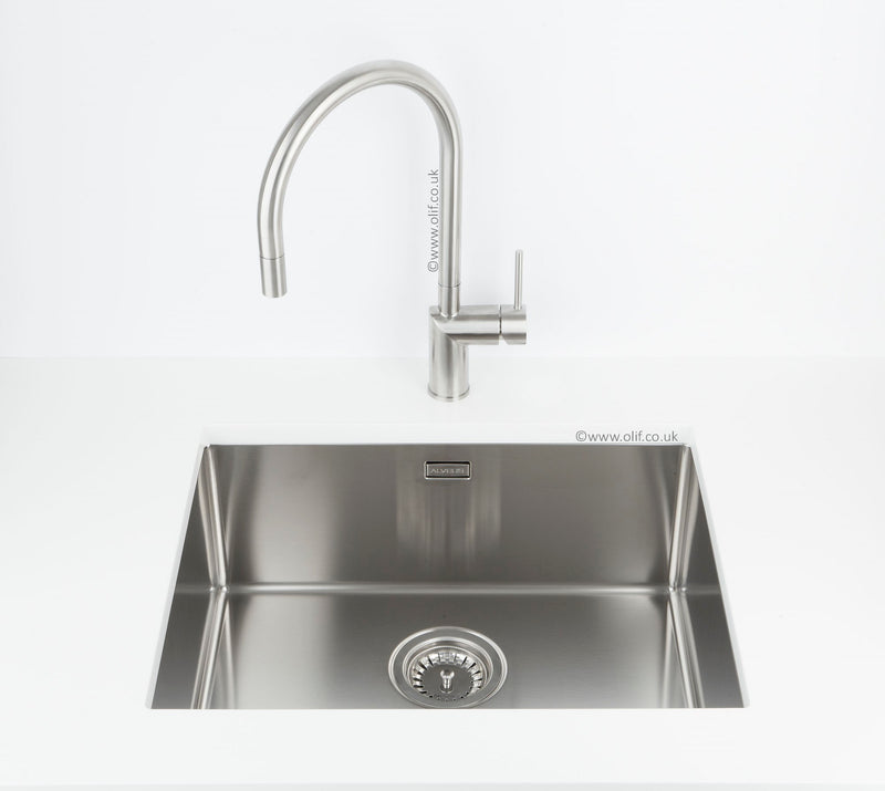 Alveus Quadrix 50, flush/flat or undermount sink