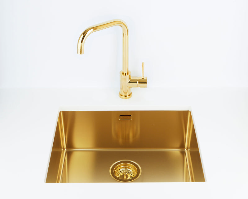 Pack of Alveus Monarch Quadrix 50 Gold sink and matching Gold tap