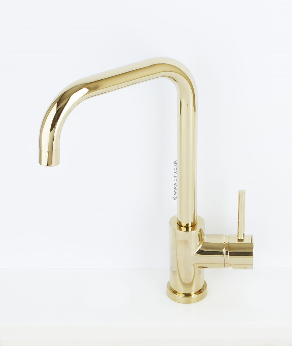 Alveus Delfino Gold, kitchen mixer tap, Monarch collection