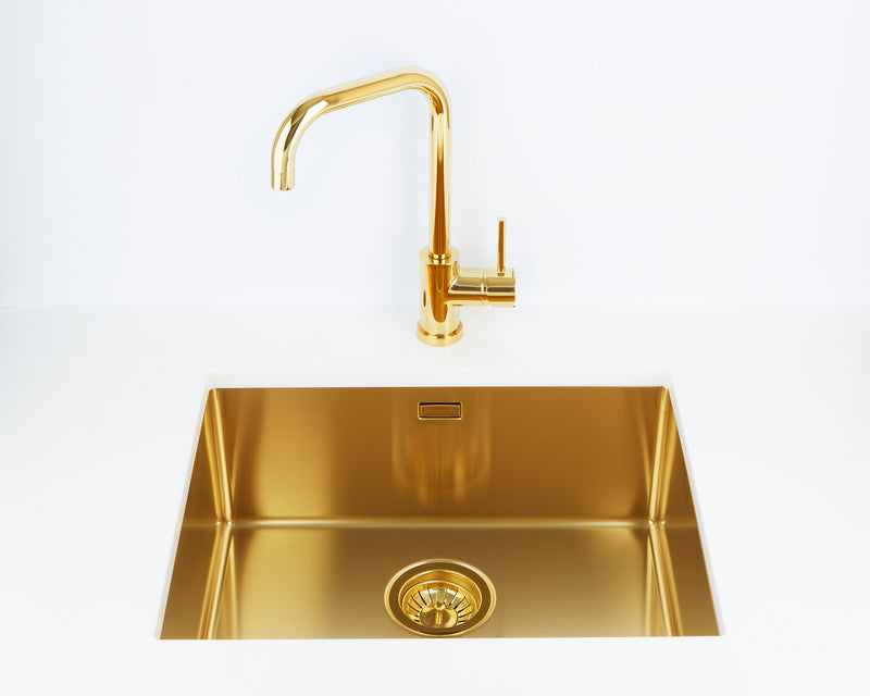 Alveus Delfino Gold MIX & MATCH kitchen mixer tap, Monarch collection