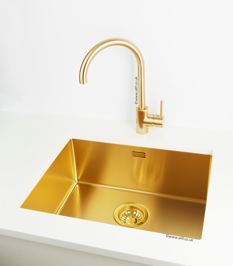 Cascata Nova Pale Brass, kitchen mixer tap