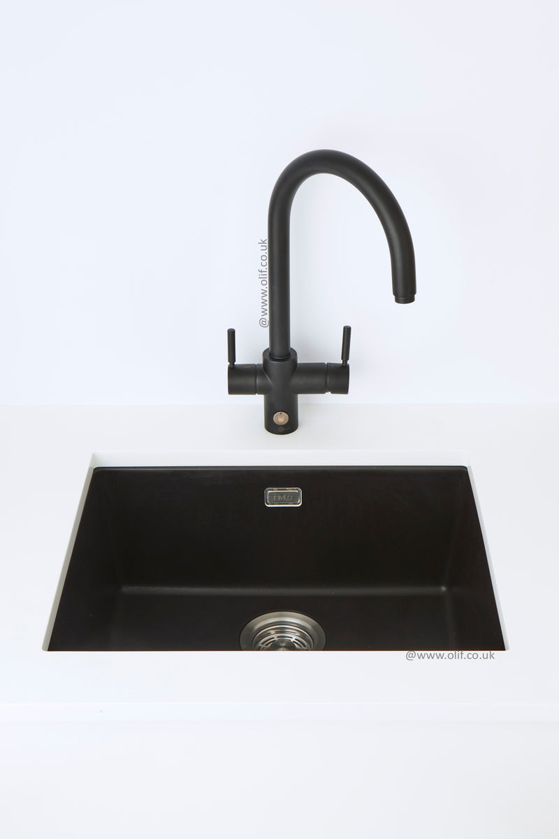 Pack of InSinkErator 4n1 Touch J tap & Nivito sink, Black Velvet finish