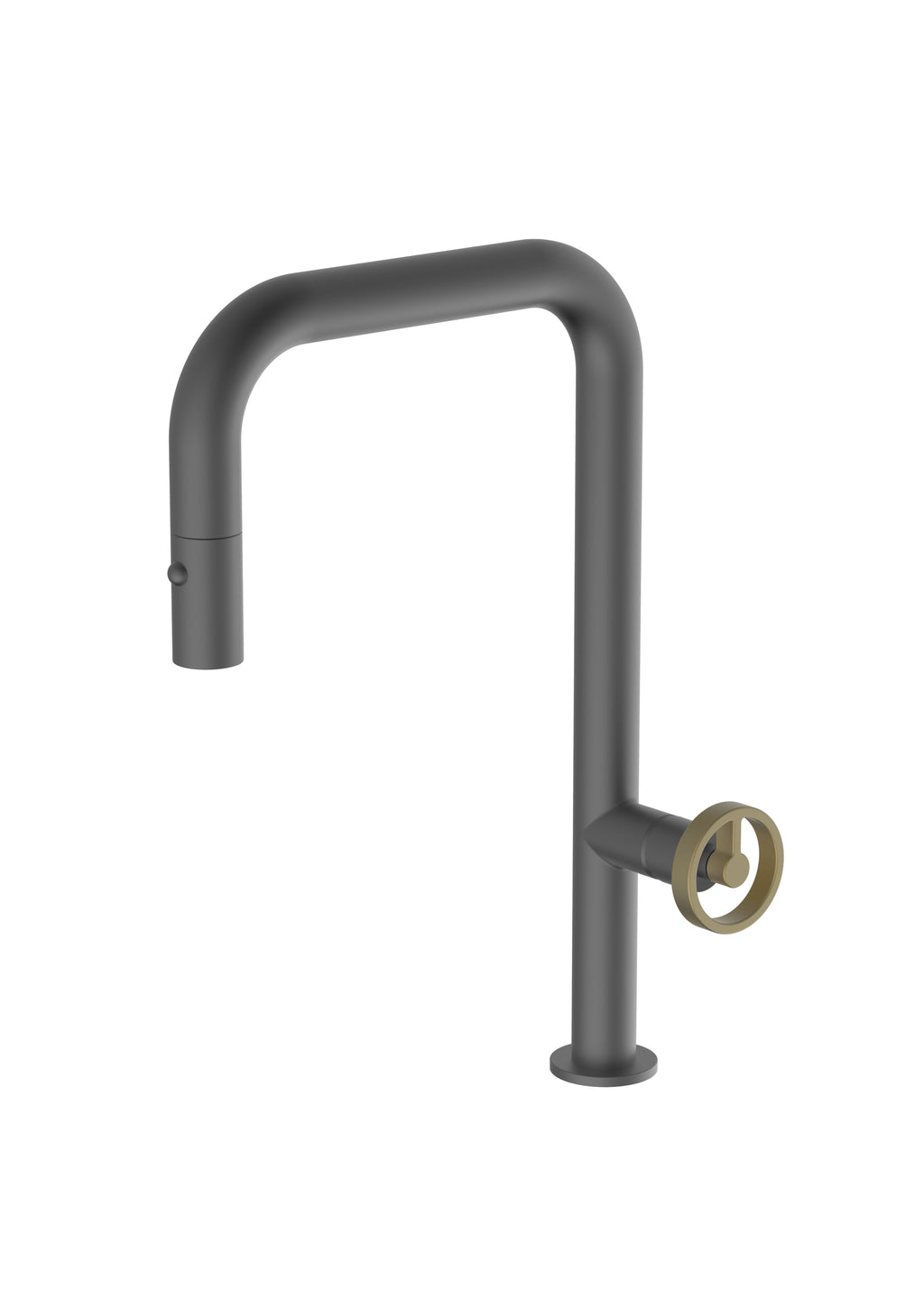 Capo Anthracite Mix & Match, pull-down kitchen mixer tap