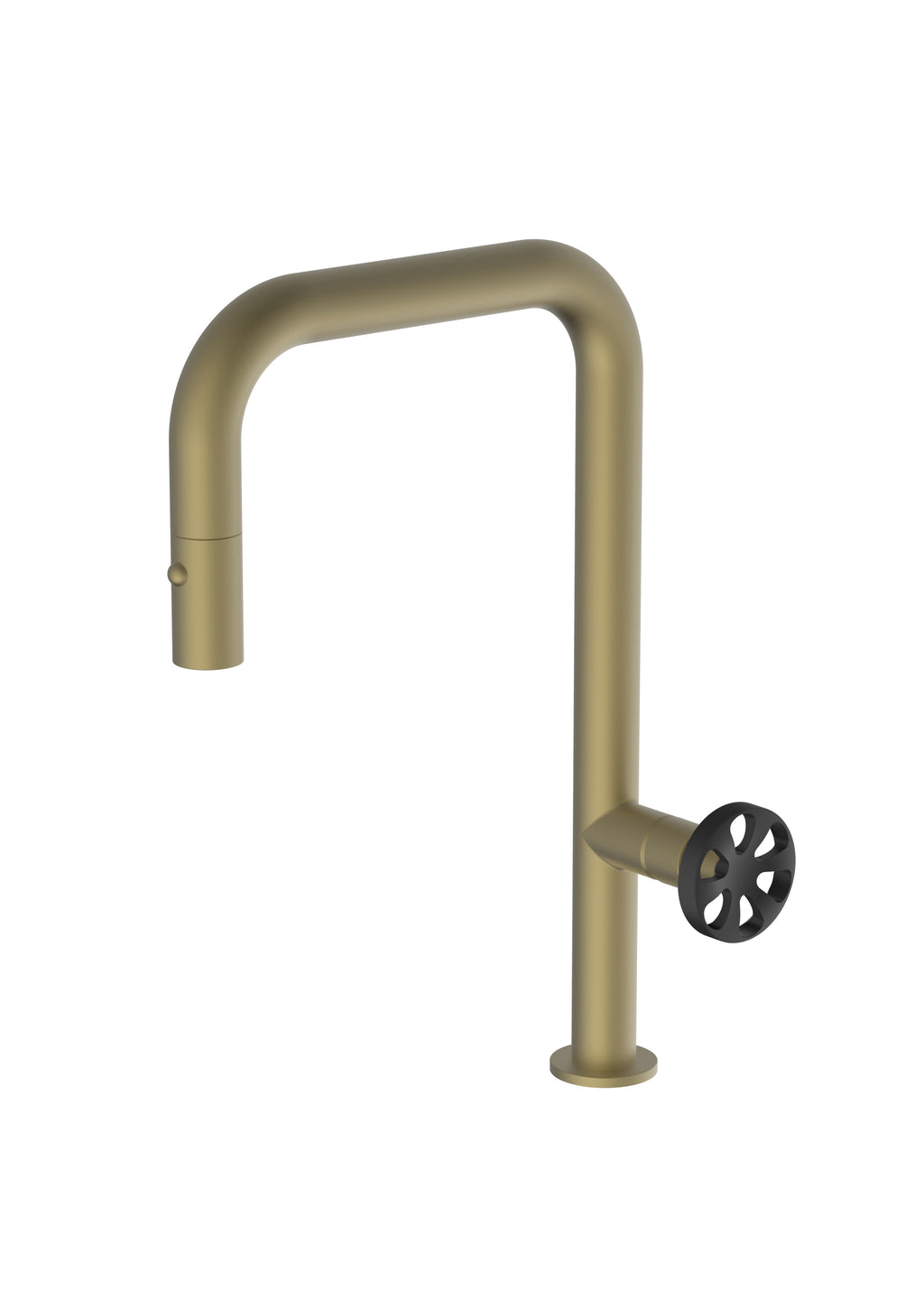 Capo Brass/Gold Mix & Match, pull-down kitchen mixer tap