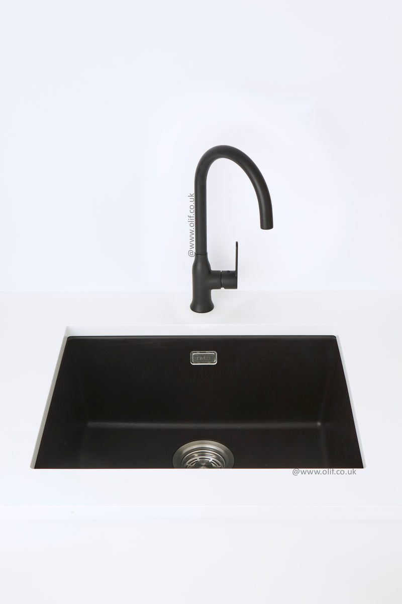 Alveus Leo Matte Black, kitchen mixer tap, Monarch collection