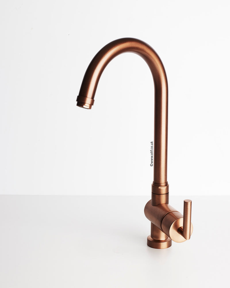Alto Brushed Copper, kitchen mixer tap