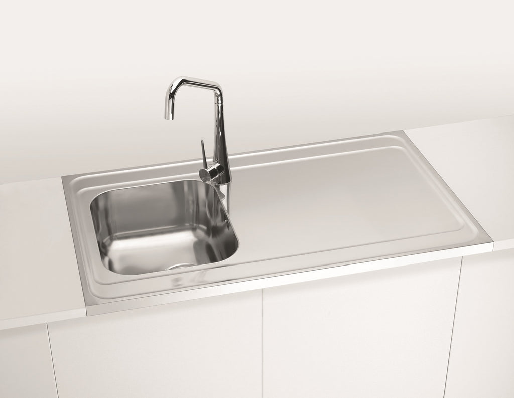 Sit-on Kitchen Sinks, Lay on, stainless steel, UK | Olif